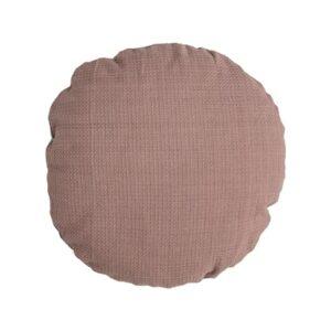 housse de coussin ronde rose