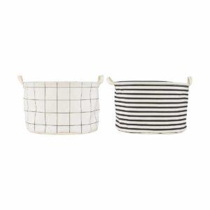 Panière à linge Squares Stripes