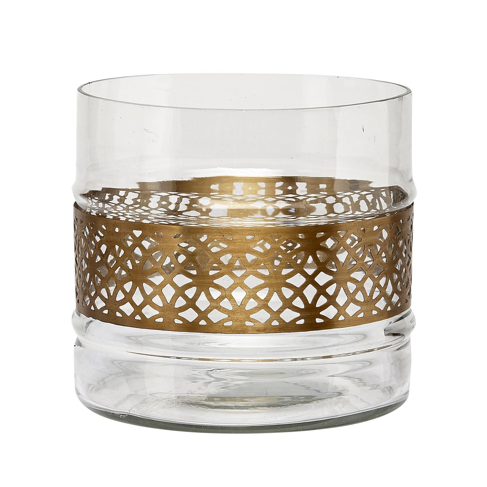 vase ruban laiton hubsch
