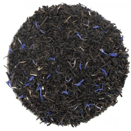 thé noir earl grey supérieur fleurs bleues