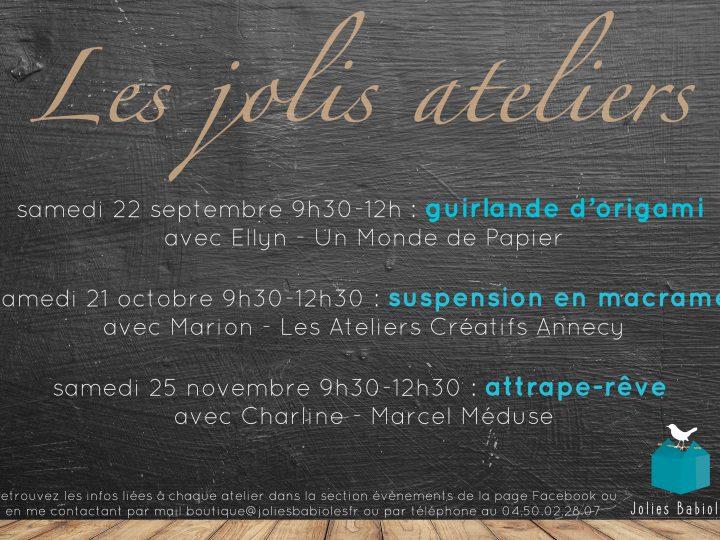 Les Jolis Ateliers #1