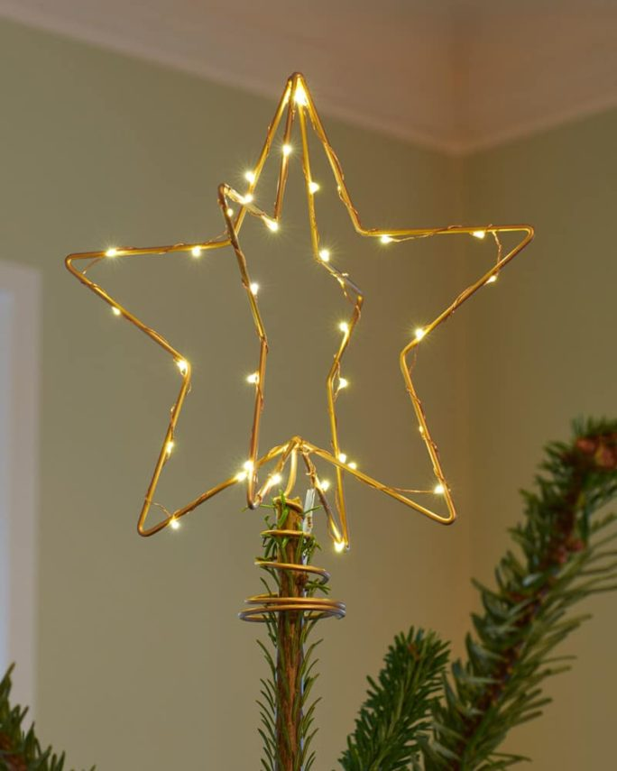 Etoile lumineuse pour sapin de Noël