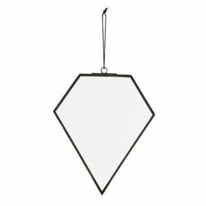 Miroir pentagone métal noir (Grand)
