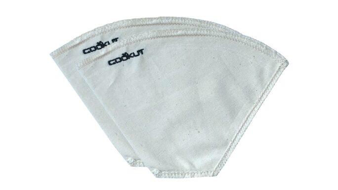 Cofi Lot de 2 filtres à café réutilisables en coton non traité