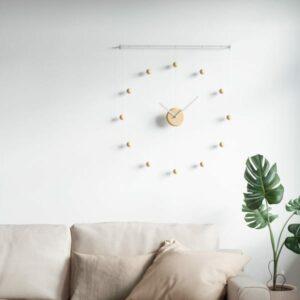 Horloge HANGTIME Blanc/Naturel