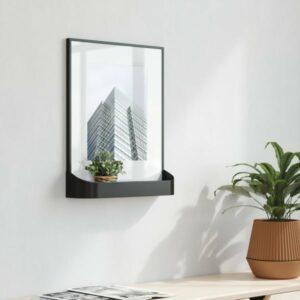 Cadre photo avec rebord MATINEE noir