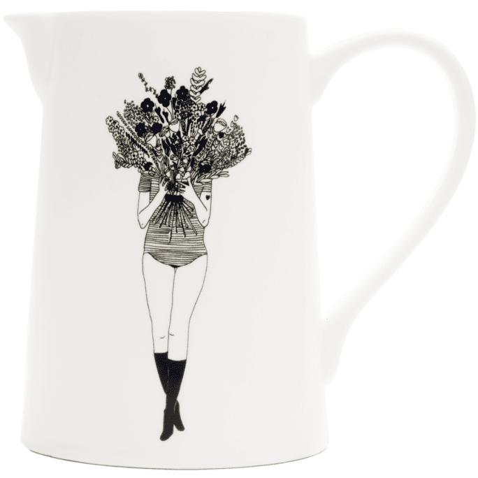 Pichet en porcelaine Flower Girl