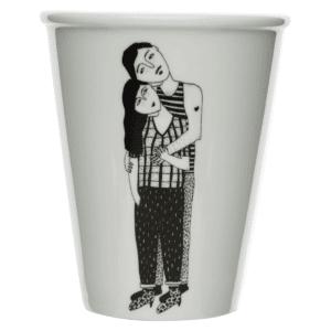 Tasse en porcelaine Hugging