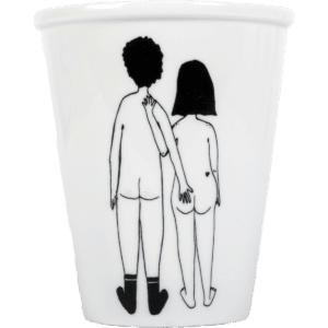 Tasse en porcelaine Naked couple