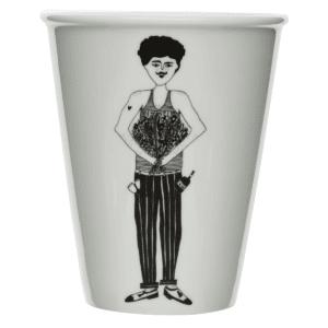 Tasse en porcelaine Flower Man