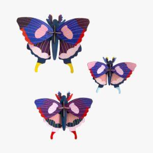 Insecte Décor mural Set de 3 Papillons