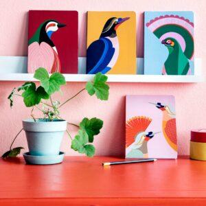 Carnet de notes Oiseau Flores
