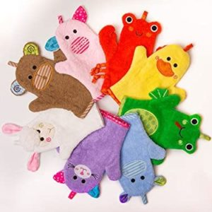 Gant de bain marionnette animaux