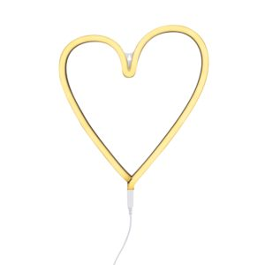 Lampe style néon Coeur Jaune - A Little Lovely Company