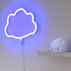 Lampe style néon Nuage bleu