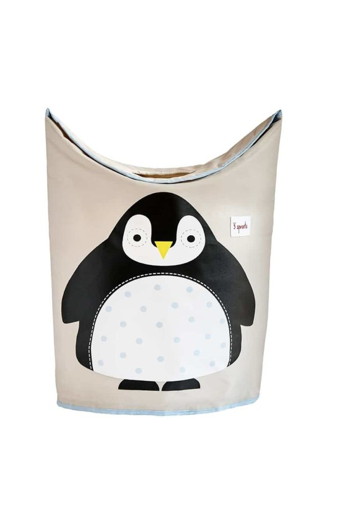 Panier à linge Pingouin