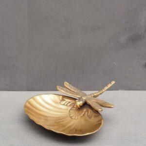 Vide poche libellule et coquillage