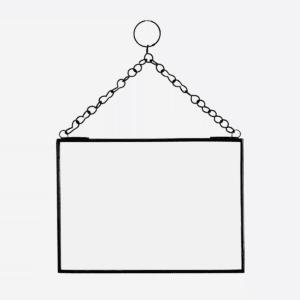 Miroir cadre métal noir 18×13 cm