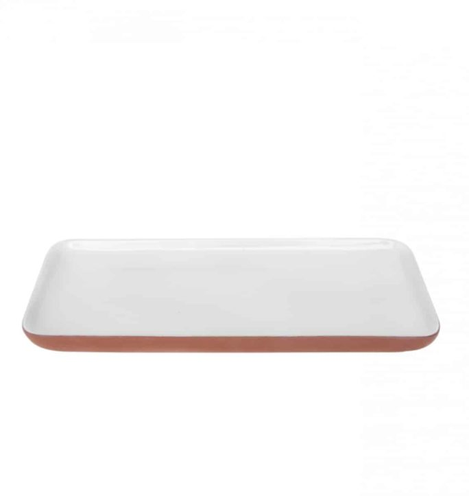 Assiette blanche rectangulaire SHARE YOUR FOOD
