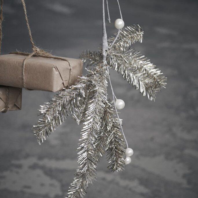 Branche de Noël Joy Champagne