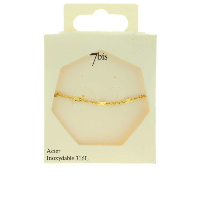 Bracelet Acier Inox Chaine fine INFINI doré
