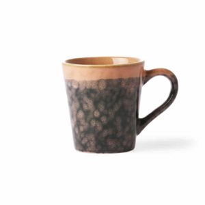 Tasse à café collection 70'S coloris LAVA
