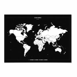 Carte à colorier COLOR YOUR WORLD