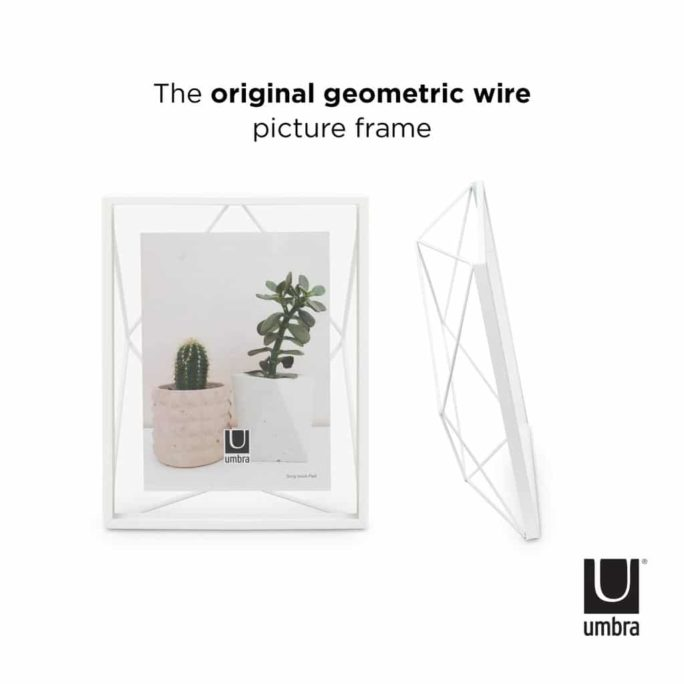 Cadre photo 13×18 PRISMA Blanc
