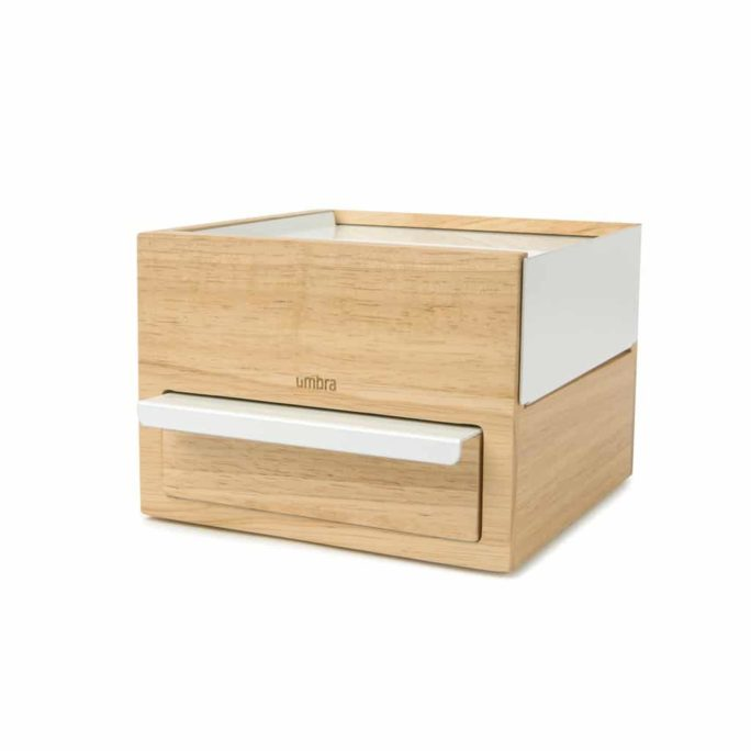 Boîte à bijoux MINI STOWIT Blanc / Naturel