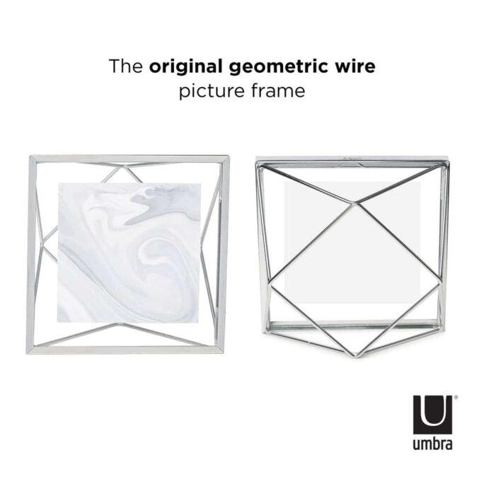 Cadre photo 10X10 PRISMA Chromé