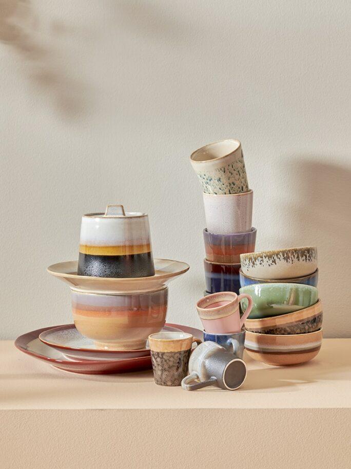 Tasse à café collection 70'S coloris OCEAN