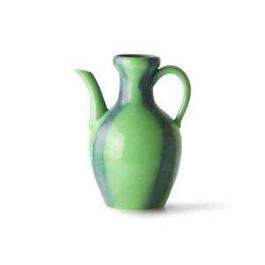 Pichet en céramique Bleu / Vert