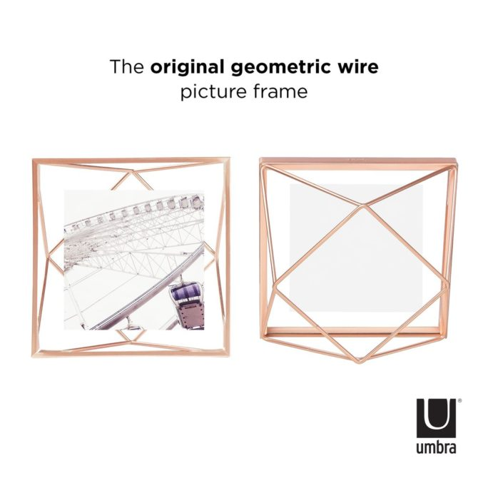 Cadre photo 10X10 PRISMA Cuivré mat