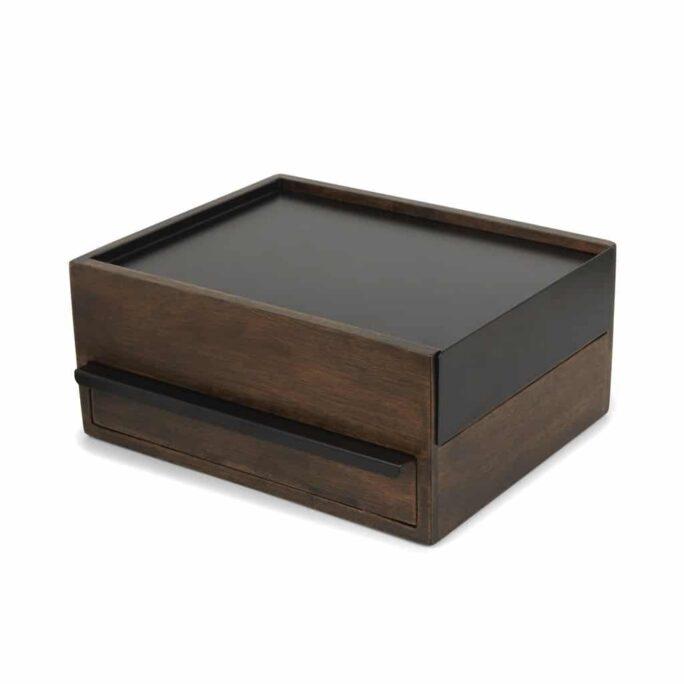 Boîte à bijoux STOWIT STORAGE Noir / Noyer