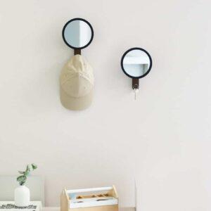Miroir avec crochet HUB Noir / Naturel