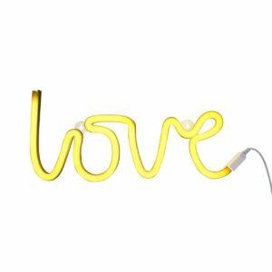 Lampe neon LOVE Jaune