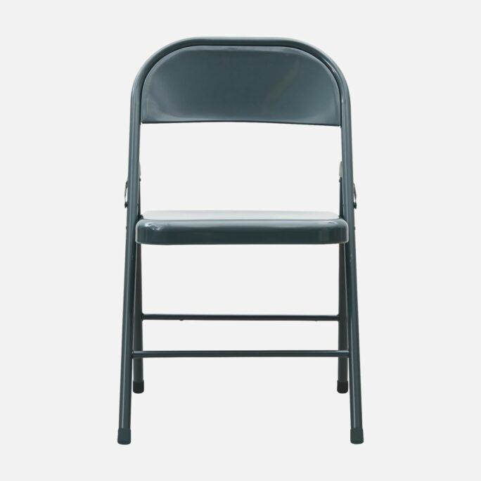 Chaise «Fold It» métal couleur grès
