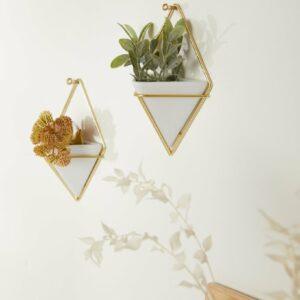 Petites Suspensions TRIGG Blanc / Doré mat