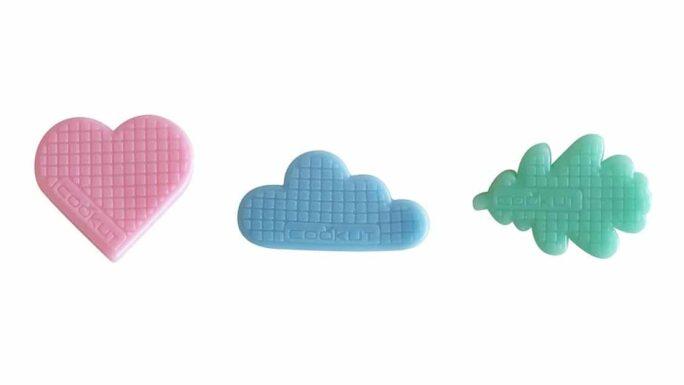 Stickers repositionnables Nuages Bleus