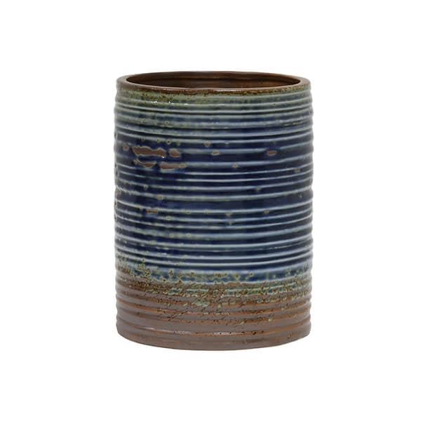 Cache-pot Bleu Marron