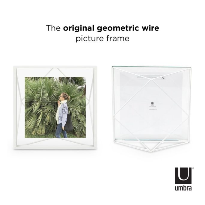 Cadre photo 10X10 PRISMA Blanc