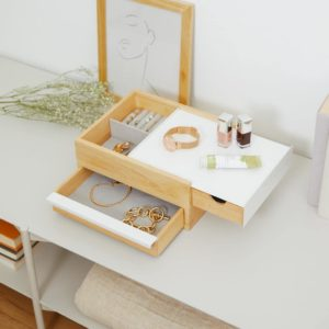 Boîte à bijoux STOWIT STORAGE Blanc / Naturel