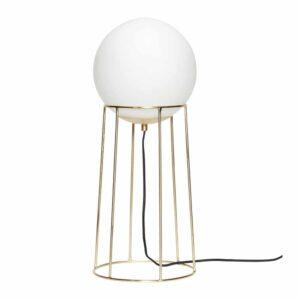 Lampadaire verre blanc et laiton