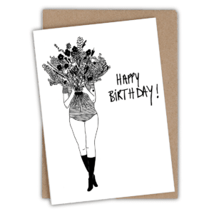 Carte d'anniversaire Flower Girl