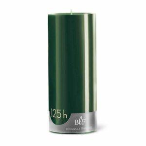 Bougie cylindrique 20cm 125h vert Noël