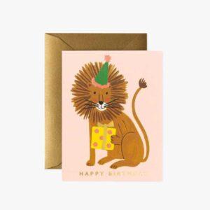 Carte Anniversaire LION