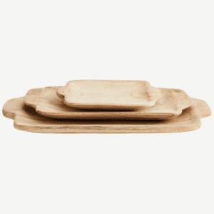 Grand plateau rectangulaire en bois