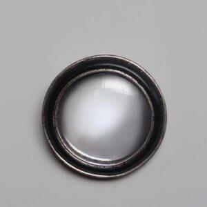 Miroir convexe Patine argent 19cm