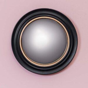 Miroir convexe bord doré 43 cm