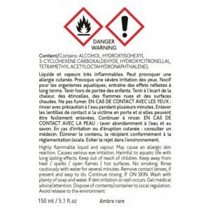 Recharge diffuseur de parfum 150ml ambre rare